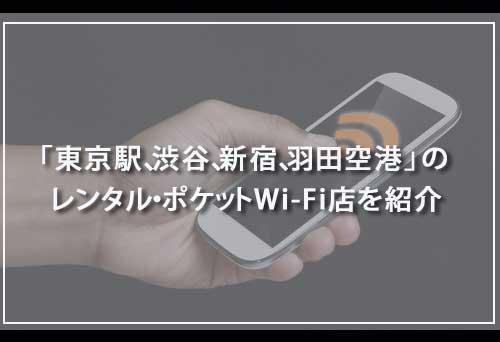 「東京駅、渋谷、新宿、羽田空港」のレンタル・ポケットWi-Fi店を紹介
