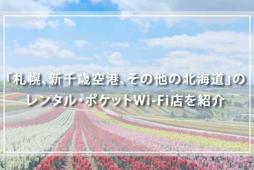 「札幌、新千歳空港、その他の北海道」のレンタル・ポケットWi-Fi店を紹介