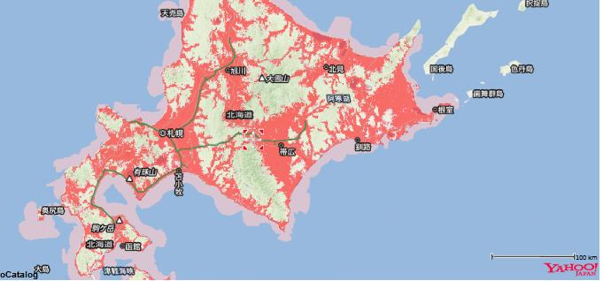 ソフトバンクの札幌以南・釧路・帯広