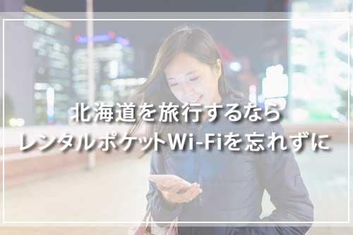 北海道を旅行するならレンタルポケットWi-Fiを忘れずに