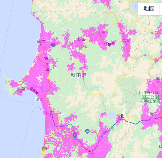 秋田県北部エリア