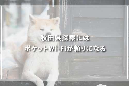 秋田県探索にはポケットWi-Fiが頼りになる