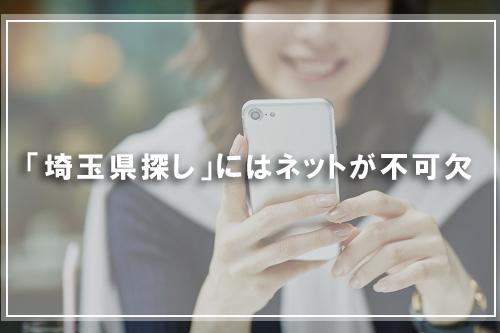 「埼玉県探し」にはネットが不可欠
