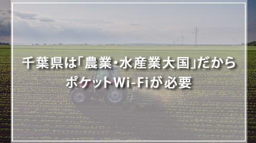 千葉県は「農業・水産業大国」だからポケットWi-Fiが必要