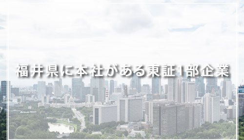 福井県に本社がある東証1部企業