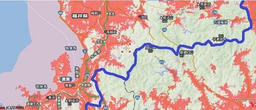 県中央部のエリアマップ