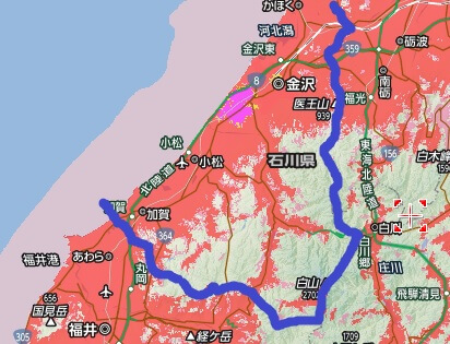 石川県南部のエリア