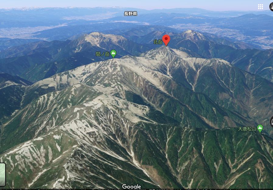北岳と南アルプス