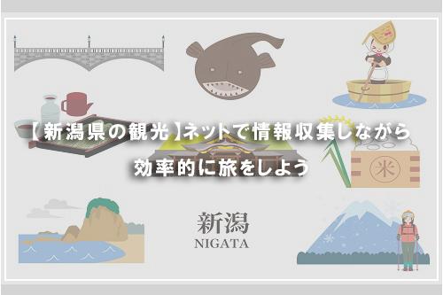 【新潟県の観光】ネットで情報収集しながら効率的に旅をしよう
