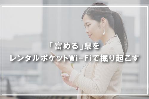 「富める」県をレンタルポケットWi-Fiで掘り起こす