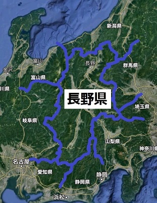 長野県の地図・航空写真
