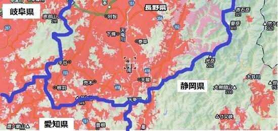 長野県の最南端