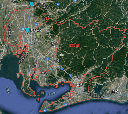 愛知県の航空写真