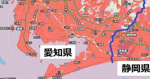 愛知県南部のエリアマップ