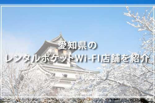 愛知県のレンタルポケットWi-FI店舗を紹介