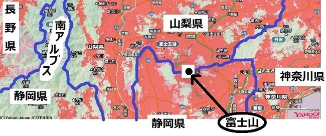 静岡県北部のエリアマップ