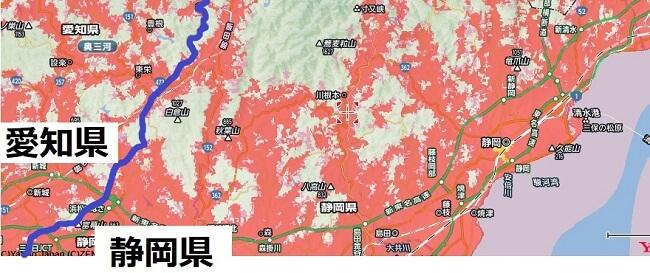 静岡県の北西部