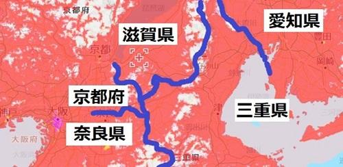 三重県北部のWi-Fiのエリアマップ