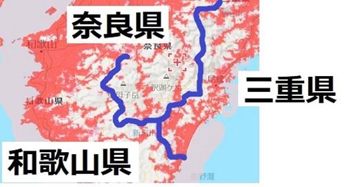 三重県南部のエリアマップ