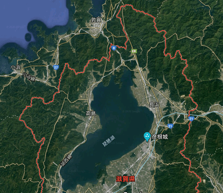 滋賀県航空地図