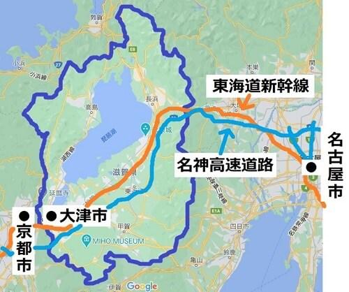 滋賀県交通マップ