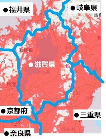 滋賀県のエリアマップ