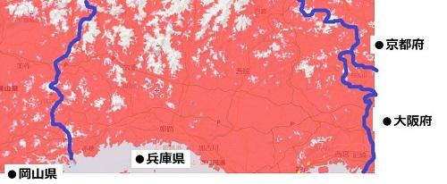 兵庫県中部のエリアマップ