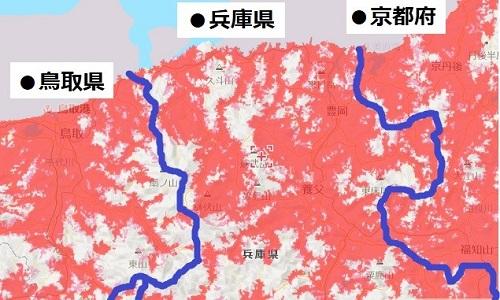 兵庫県北部のエリアマップ