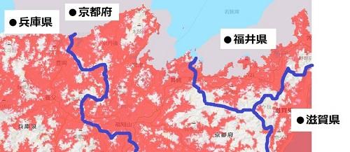 京都府北部のエリアマップ