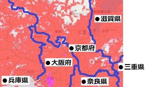 京都府南部のエリアマップ