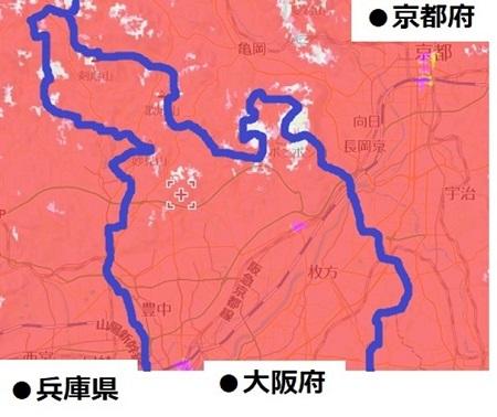 大阪府北部のエリア