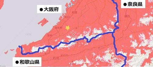 大阪府南部のエリア