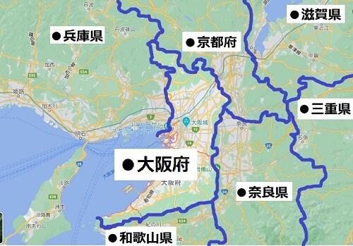 大阪府の場所