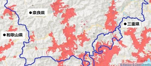 奈良南部エリアマップ