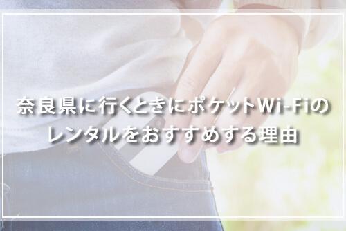 奈良県に行くときにポケットWi-Fiのレンタルをおすすめする理由