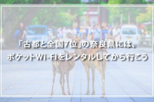 奈良県のレンタルポケットWi-FI店舗を紹介