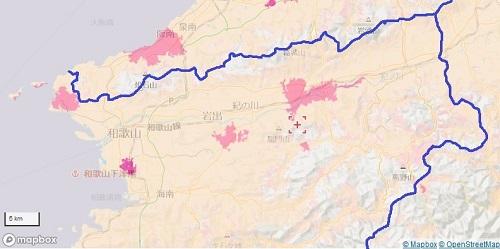 和歌山県北部のエリアマップ