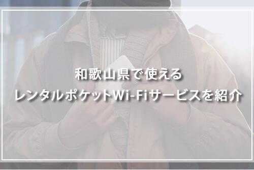 和歌山県で使えるレンタルポケットWi-Fiサービスを紹介