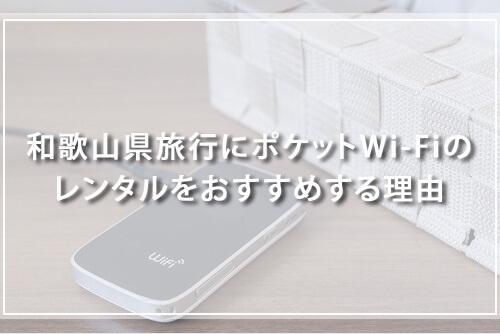 和歌山県旅行にポケットWi-Fiのレンタルをおすすめする理由